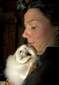 Sofi with barn owl